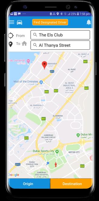 Designed Driver Home Screen
